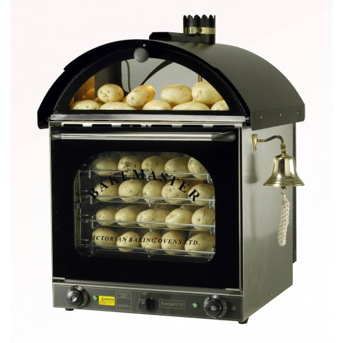 Baked Potato Convection Oven  Bakemaster Convection Oven Twin Fan Potato Oven Black