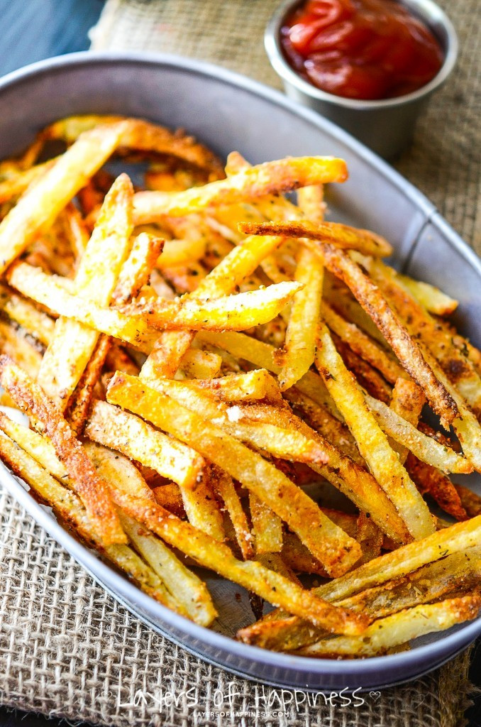 Baked Potato Fries  Extra Crispy Oven Baked French Fries Layers of Happiness