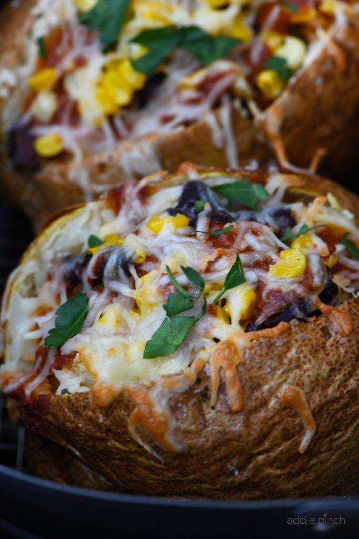 Baked Potato In Air Fryer  Air Fryer Enchilada Stuffed Baked Potatoes Recipe Add a