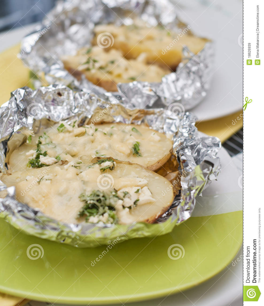 Baked Potato In Foil  Aluminum Foil Aluminum Foil Baked Potato