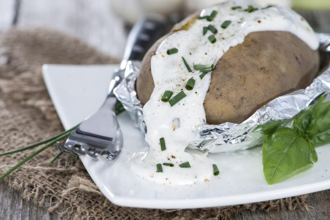 Baked Potato In Foil  How to Bake a Potato in a Convection Oven Wrapped in