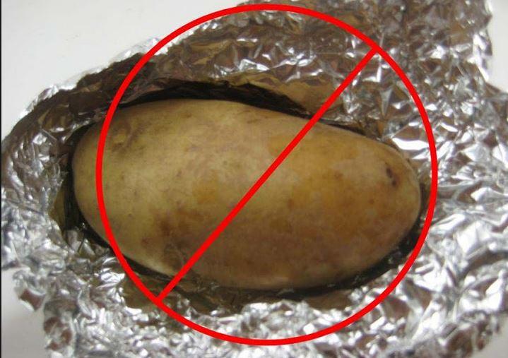 Baked Potato In Foil  Idaho Potato mission