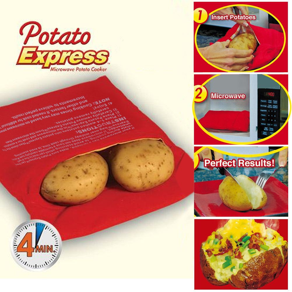 Baked Potato In Microwave Ziplock Bag  Microwave Baked Potato Express Cooking Bag Reusable