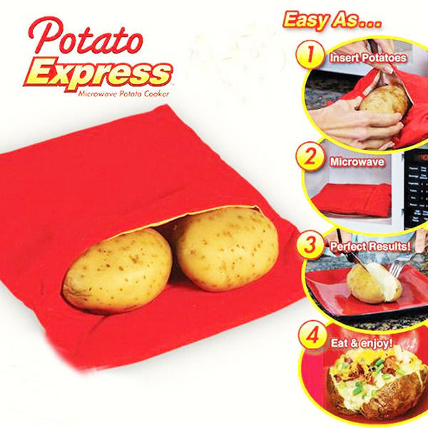 Baked Potato In Microwave Ziplock Bag  Microwave Baked Potato Cooking Bag Potato Express Washable