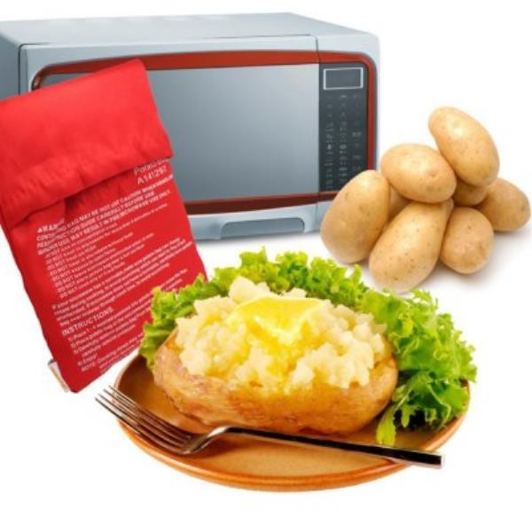 Baked Potato In Microwave Ziplock Bag  Microwave Oven Baked Potatoes Bag Red