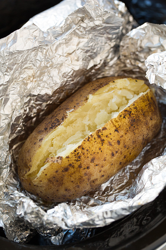 Baked Potato In Oven Wrapped In Foil  baked potato in oven wrapped in foil