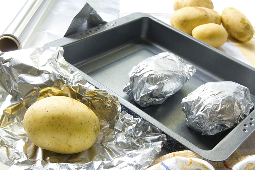 Baked Potato In Oven Wrapped In Foil  how to make baked potatoes in the oven without foil
