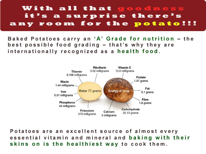 Baked Potato Nutrition  baked potato nutrition
