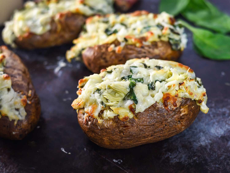 Baked Potato Recipe  Spinach and Artichoke Dip Baked Potatoes Recipe