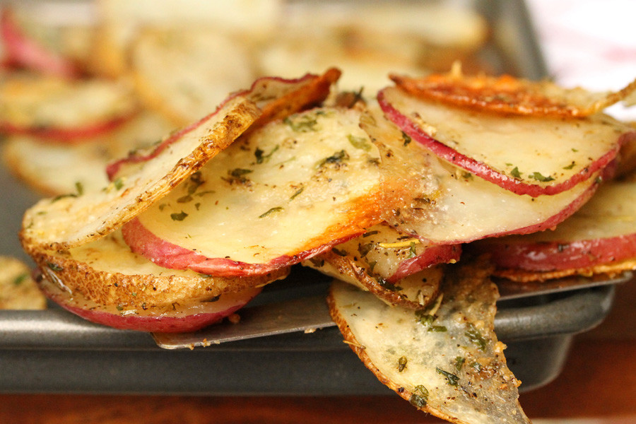 Baked Potato Slices  Baked Herbs and Parmesan Potato Slices