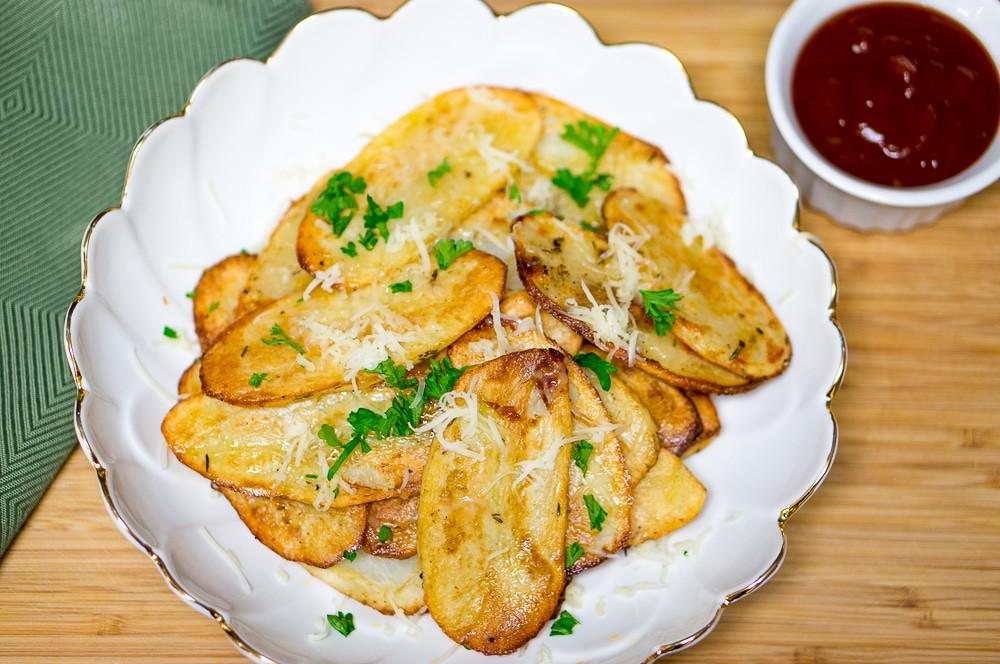 Baked Potato Slices  Baked Potato Slices Recipe