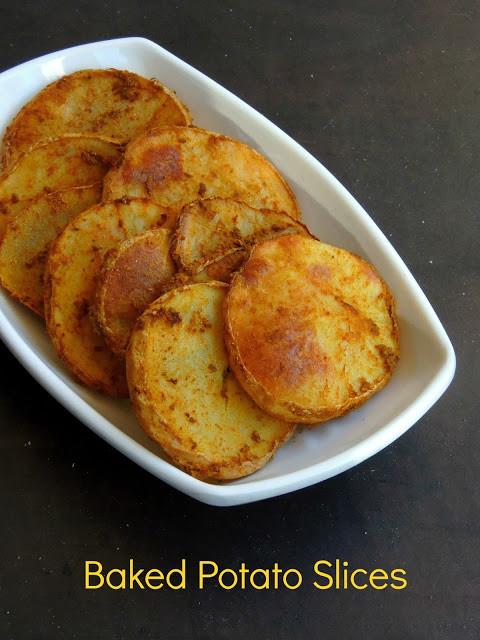 Baked Potato Slices  Priya s Versatile Recipes Baked Potato Slices