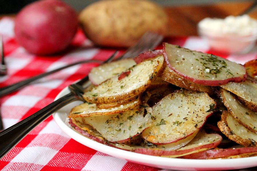 Baked Potato Slices  Potato Recipe Ideas