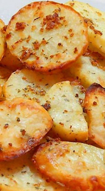 Baked Potato Slices  Baked Garlic Potato Slices Food Fun and Happiness