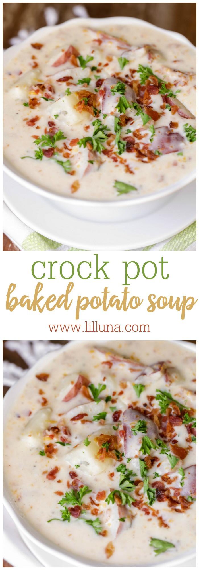 Baked Potato Soup Crock Pot  Crock Pot Baked Potato Soup