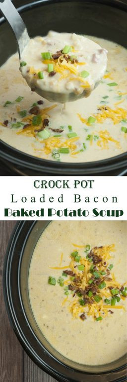Baked Potato Soup Crock Pot  Crock Pot Loaded Bacon Baked Potato Soup