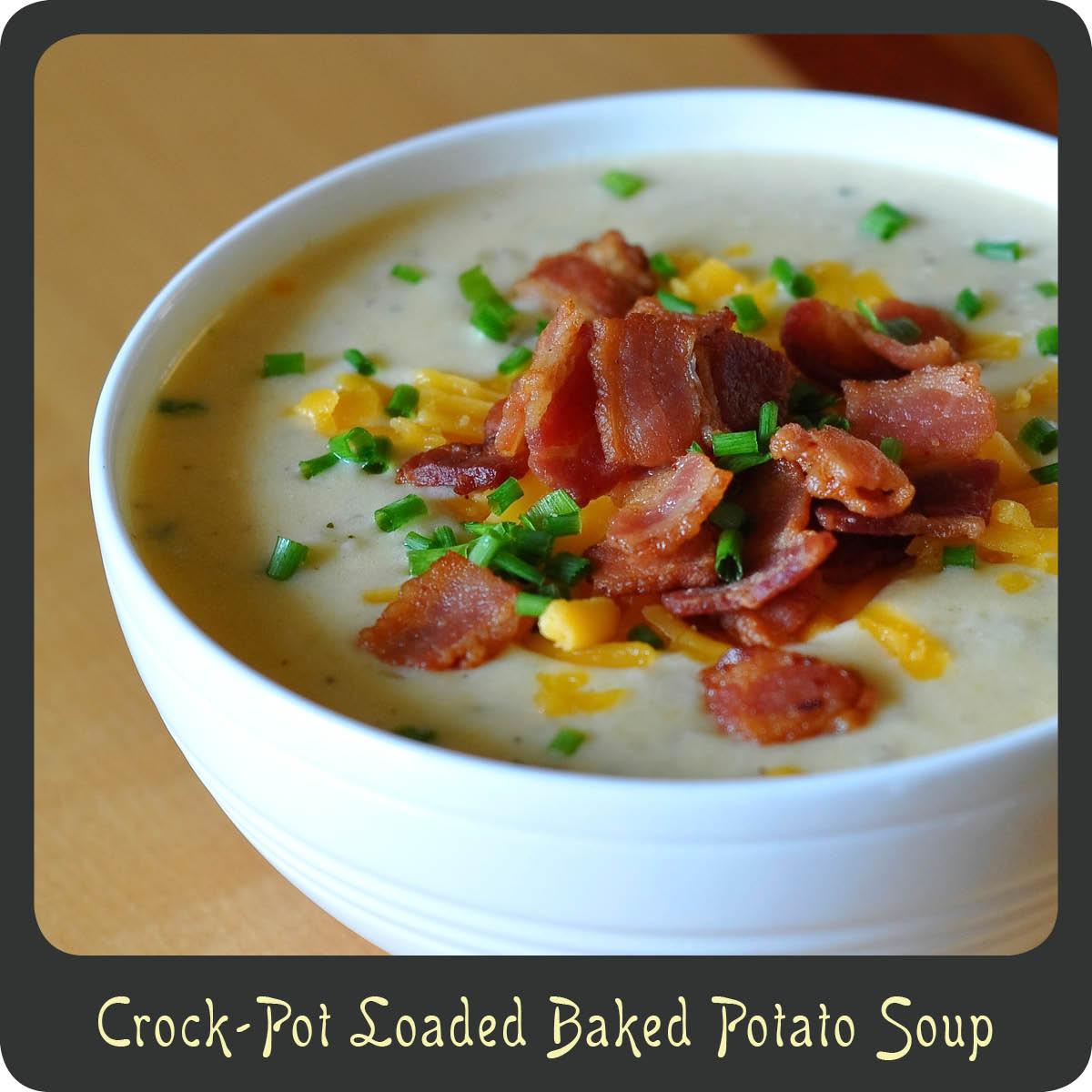 Baked Potato Soup Crock Pot  Recipe—Crock Pot Loaded Baked Potato Soup