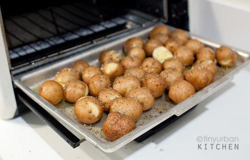 Baked Potato Toaster Oven  Toaster Oven Roasted Potatoes Tiny Urban Kitchen