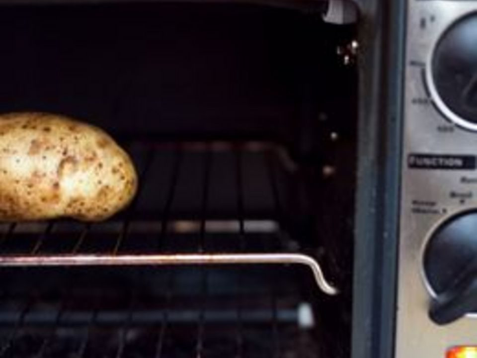 Baked Potato Toaster Oven  How to Bake a Potato in a Toaster Oven