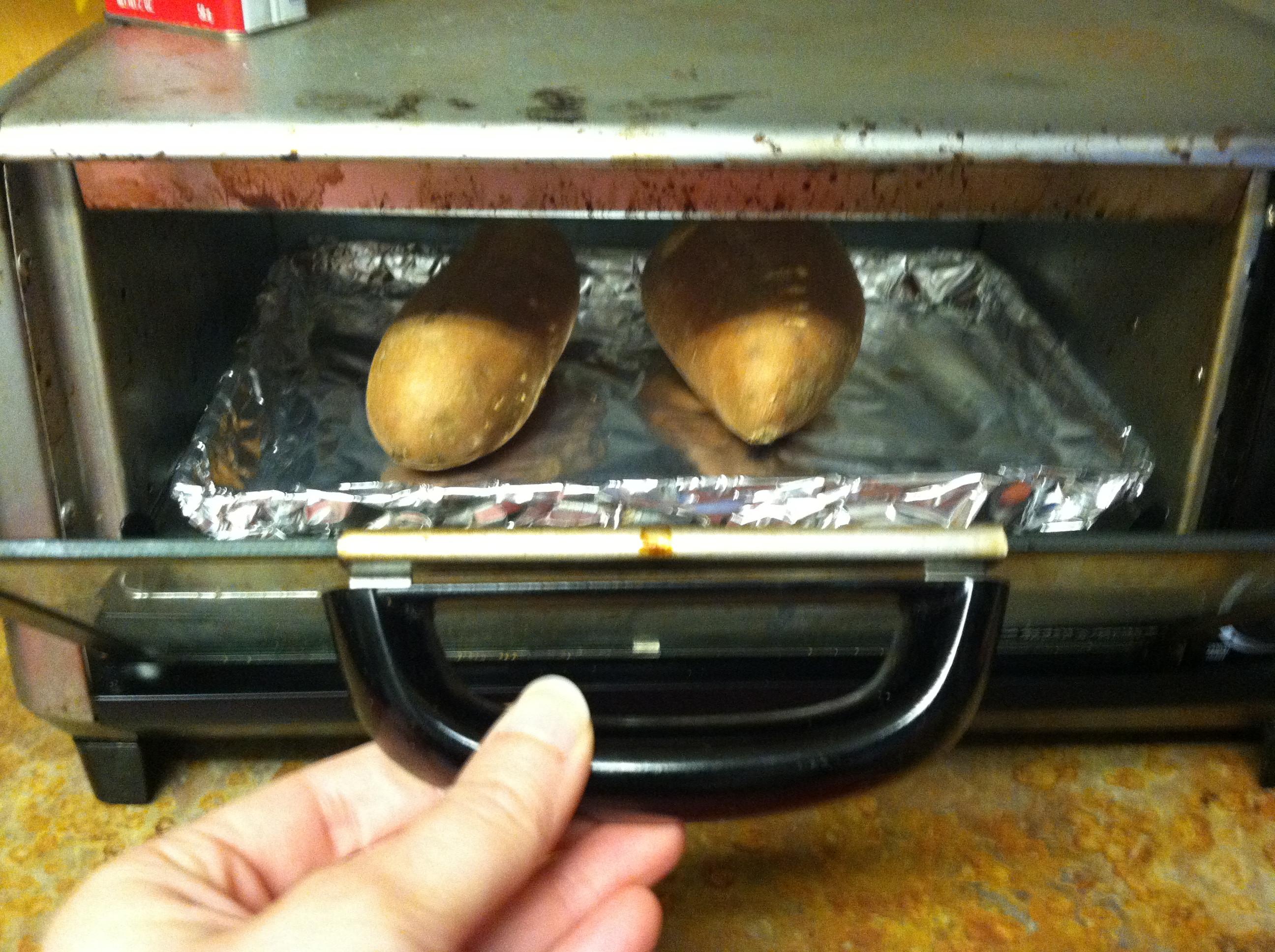 Baked Potato Toaster Oven  sweet potatoes