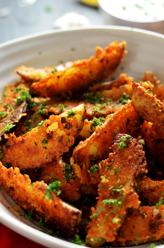 Baked Potato Wedges  Parmesan and Garlic Crusted Baked Potato Wedges Host The