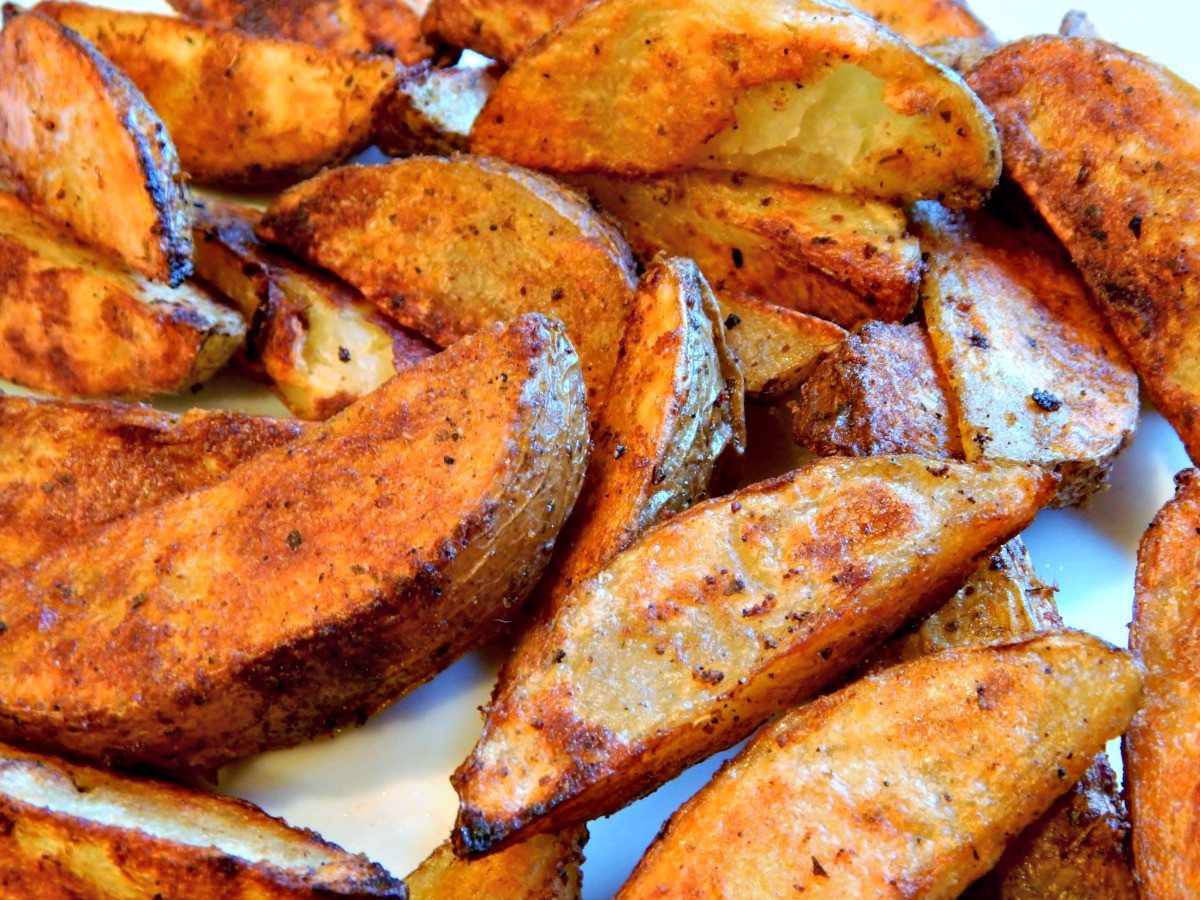 Baked Potato Wedges  Bomb Baked Potato Wedges with Variations