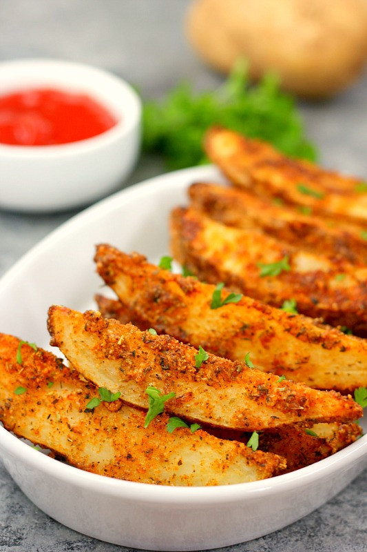 Baked Potato Wedges Recipe  homemade spicy potato wedges