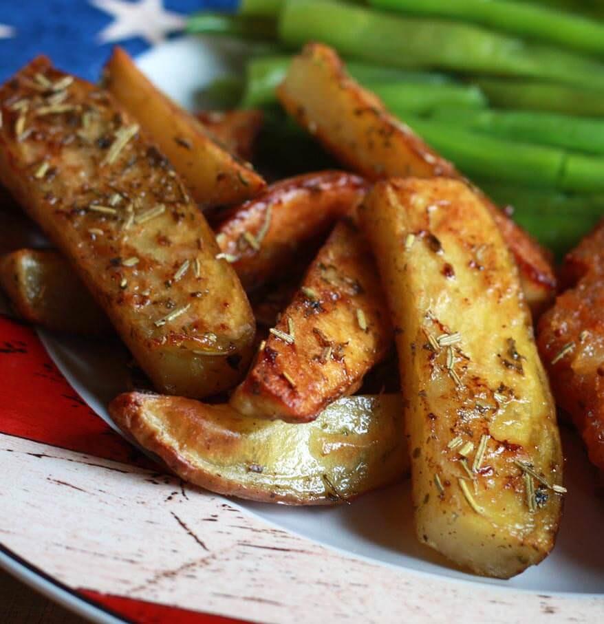 Baked Potato Wedges Recipe  Herb Roasted Potato Wedges The Daring Gourmet