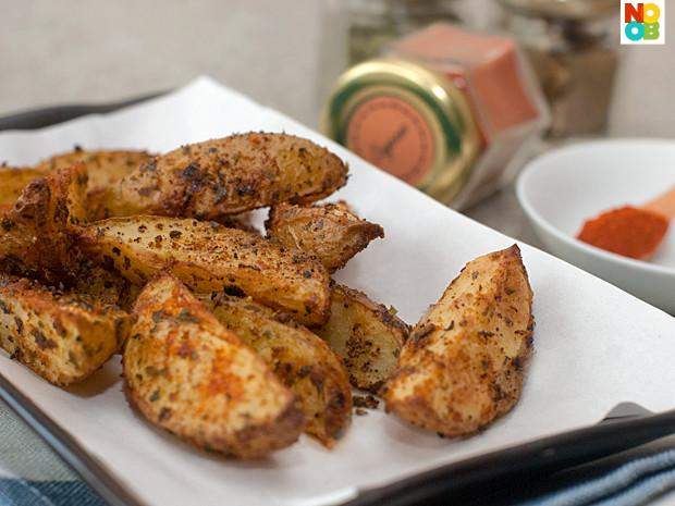 Baked Potato Wedges Recipe  Baked Potato Wedges Recipe