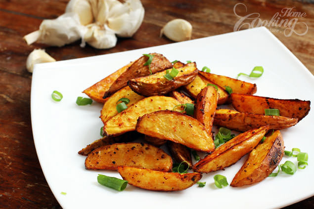 Baked Potato Wedges  Baked Potato Wedges Home Cooking Adventure