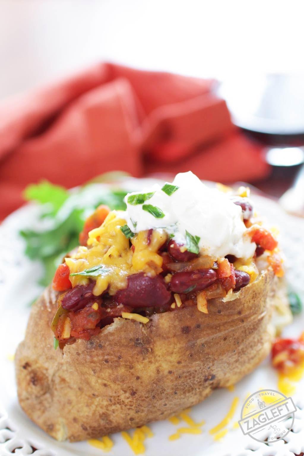 Baked Potato With Cheese  Chili Cheese Baked Potato ZagLeft
