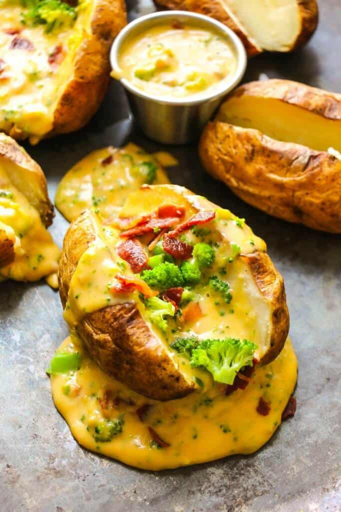 Baked Potato With Cheese  broccoli cheese baked potato pioneer woman