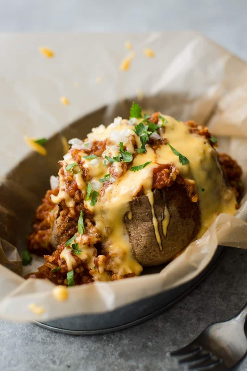 Baked Potato With Cheese  Chili Baked Potato with Cheese