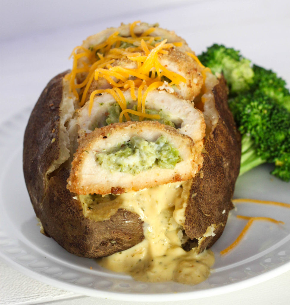 Baked Potato With Cheese  Chicken Broccoli Cheese Baked Potatoes with Barber Foods