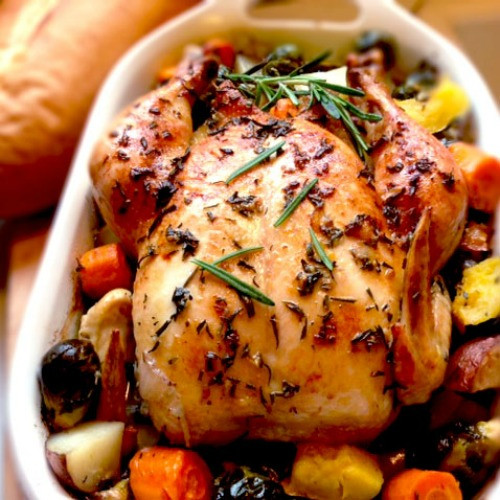 Baked Rosemary Chicken  Roasted Rosemary Garlic Chicken Recipe Whats Cooking America