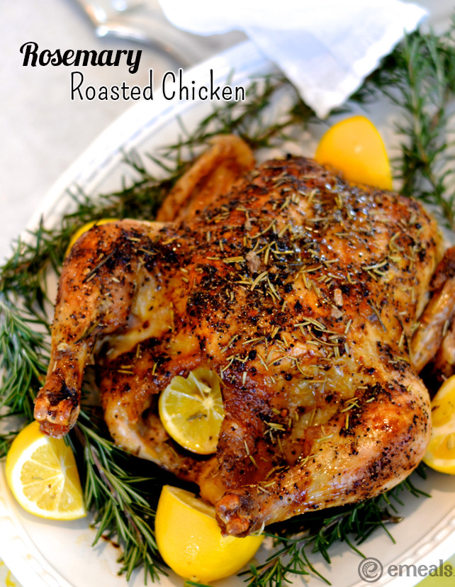 Baked Rosemary Chicken  Cook ce Eat Twice Rosemary Roasted Chicken