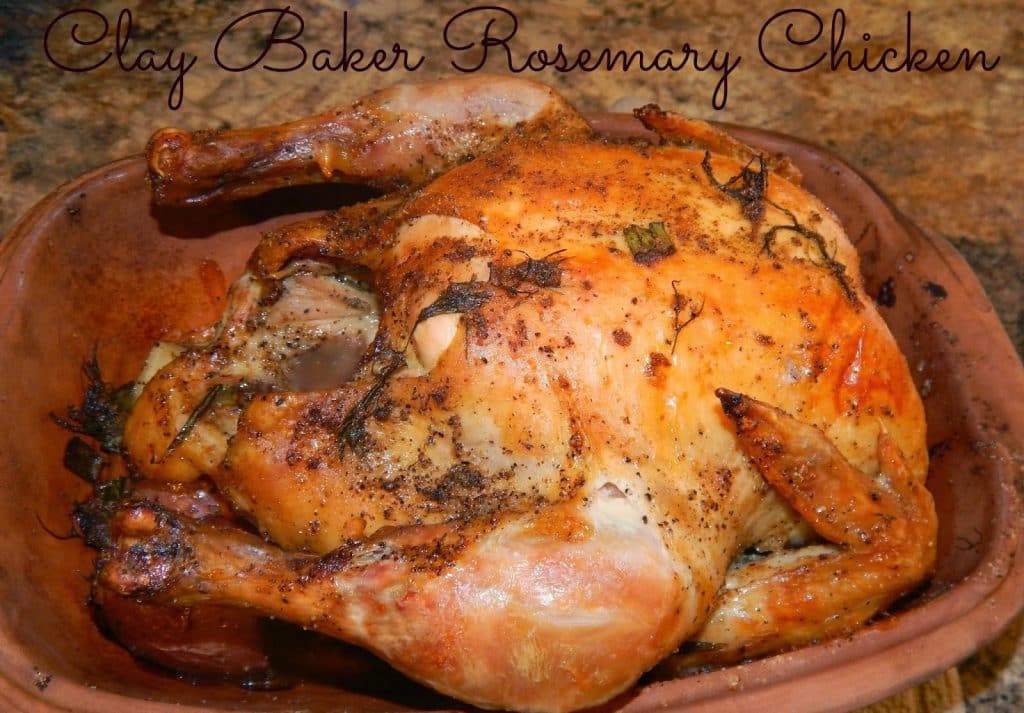 Baked Rosemary Chicken  Clay Baker Roasted Rosemary Chicken This Ole Mom