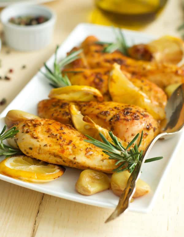 Baked Rosemary Chicken  Rosemary Lemon Roasted Chicken Breasts Primavera Kitchen