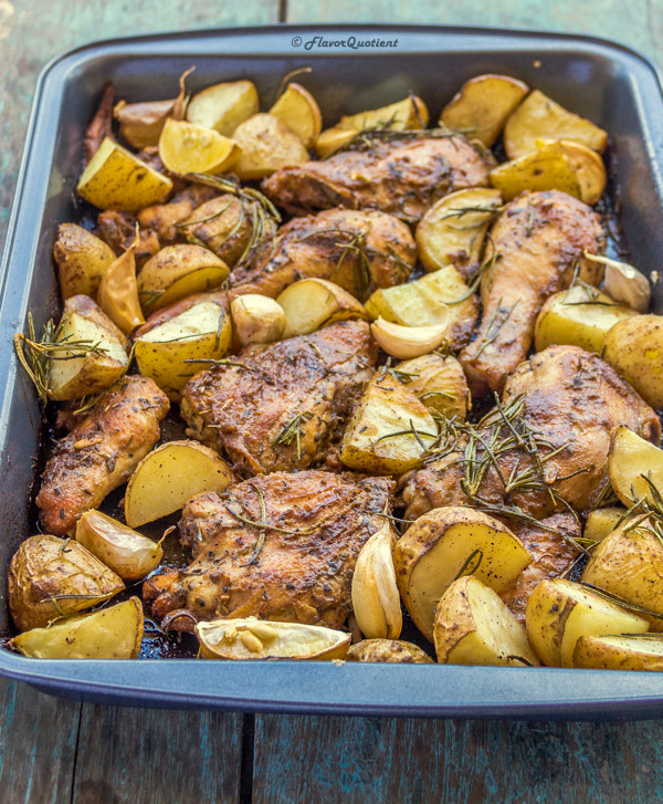 Baked Rosemary Chicken  e Pot Roasted Rosemary Chicken and Potatoes Flavor