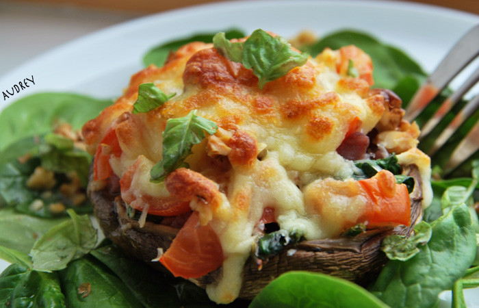 Baked Stuffed Portobello Mushroom Recipes  Baked & Stuffed Portobello Mushroom Packed Over The Brim