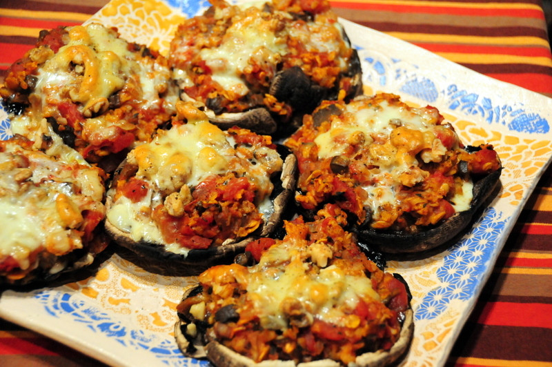 Baked Stuffed Portobello Mushroom Recipes  baked Portobello mushrooms stuffed with mushroom oat