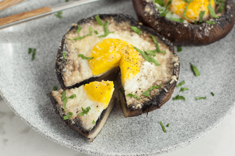 Baked Stuffed Portobello Mushroom Recipes  Egg Stuffed Baked Portobello Mushroom