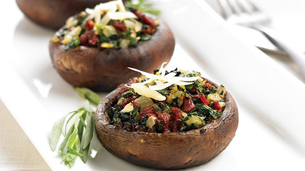 Baked Stuffed Portobello Mushroom Recipes  Baked Veggie Stuffed Portobello Mushrooms Recipe