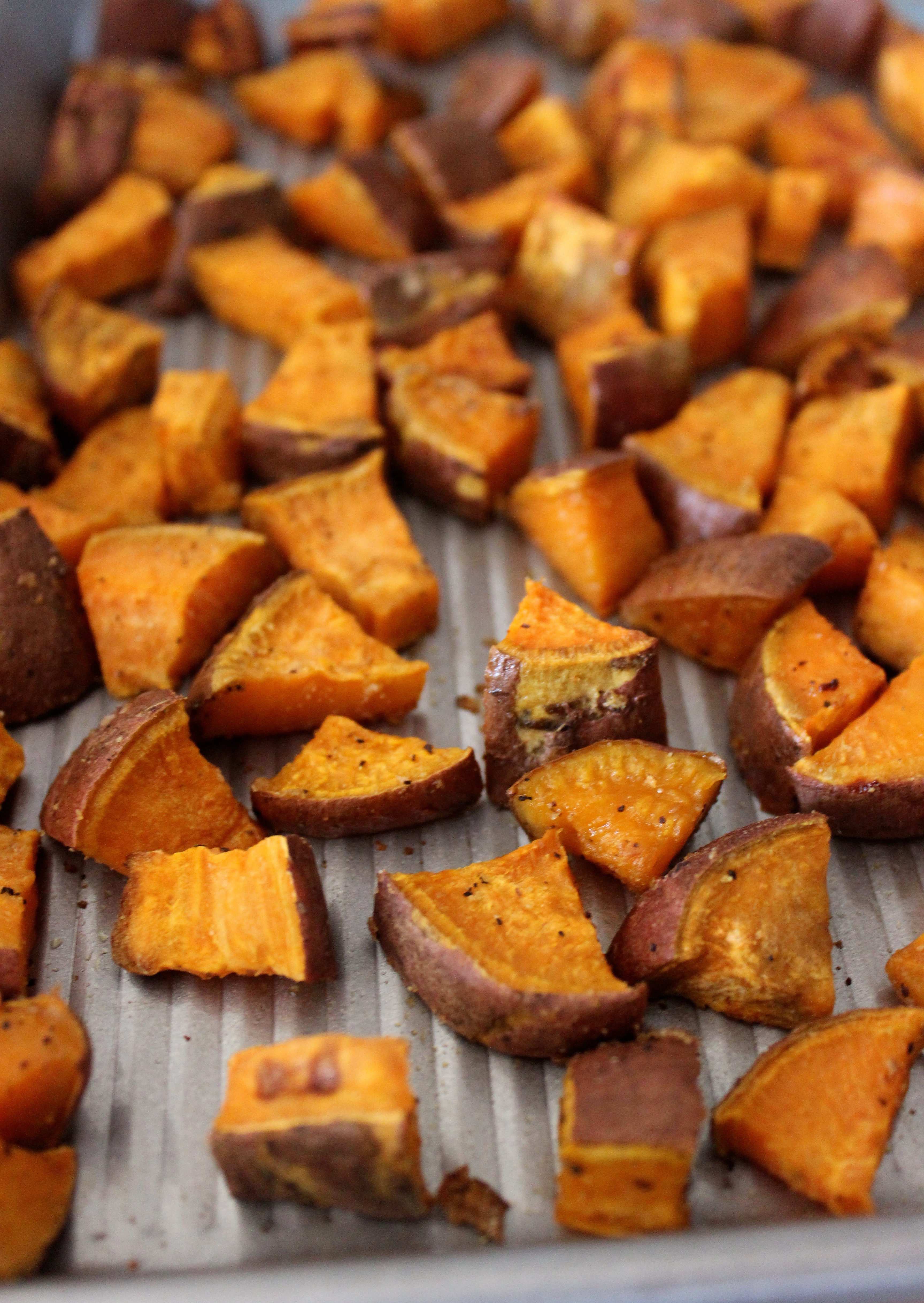 Baked Sweet Potato Cubes  Simple Roasted Sweet Potatoes Healthy Liv