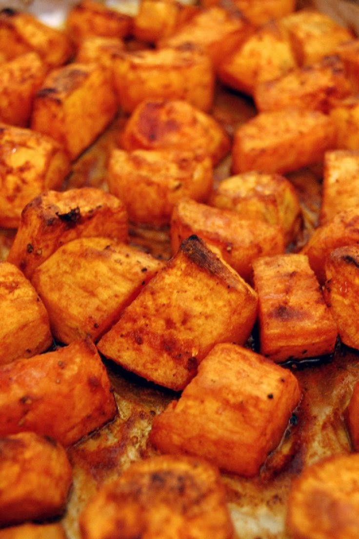Baked Sweet Potato Cubes  Roasted Sweet Potatoes with Honey and Cinnamon