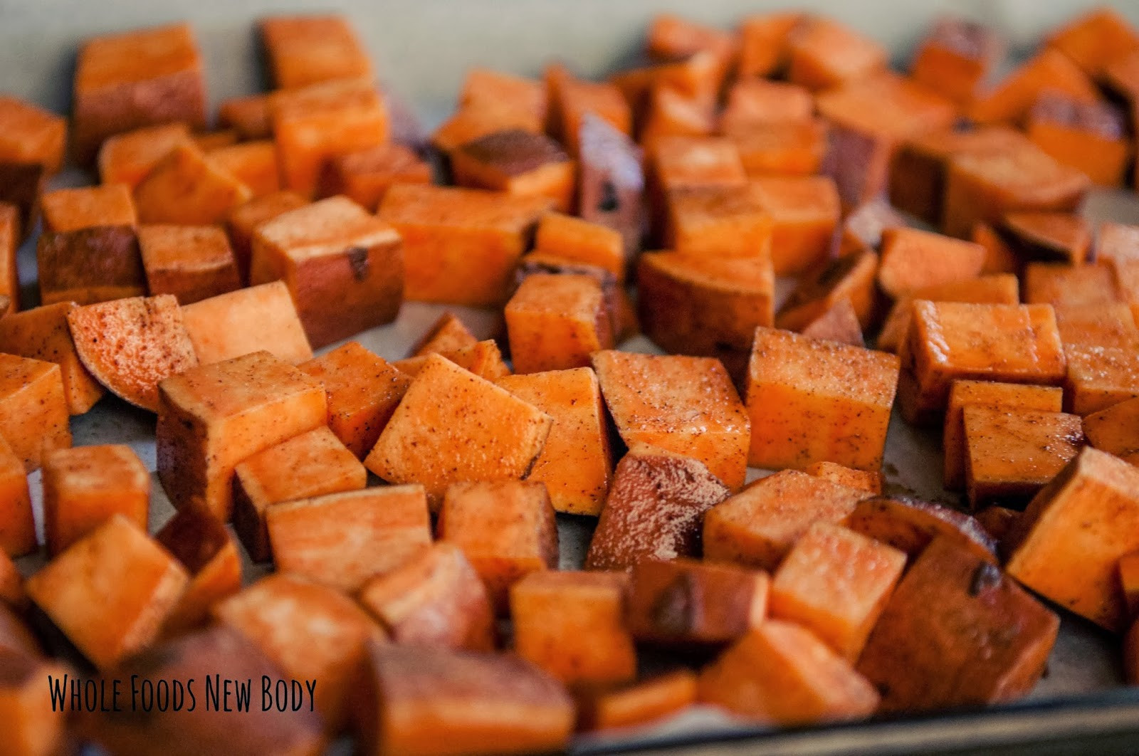Baked Sweet Potato Cubes  Whole Foods New Body Super Simple Roasted Sweet