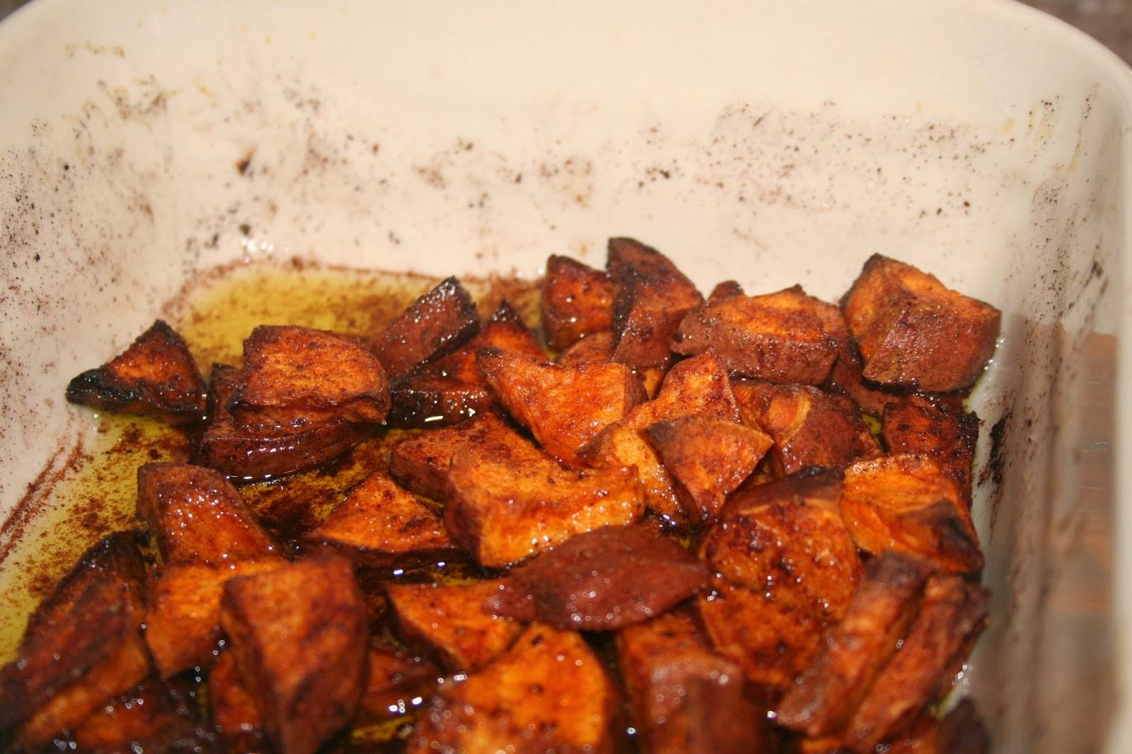 Baked Sweet Potato Cubes  NOVA Frugal Family Baked Sweet Potato Cubes
