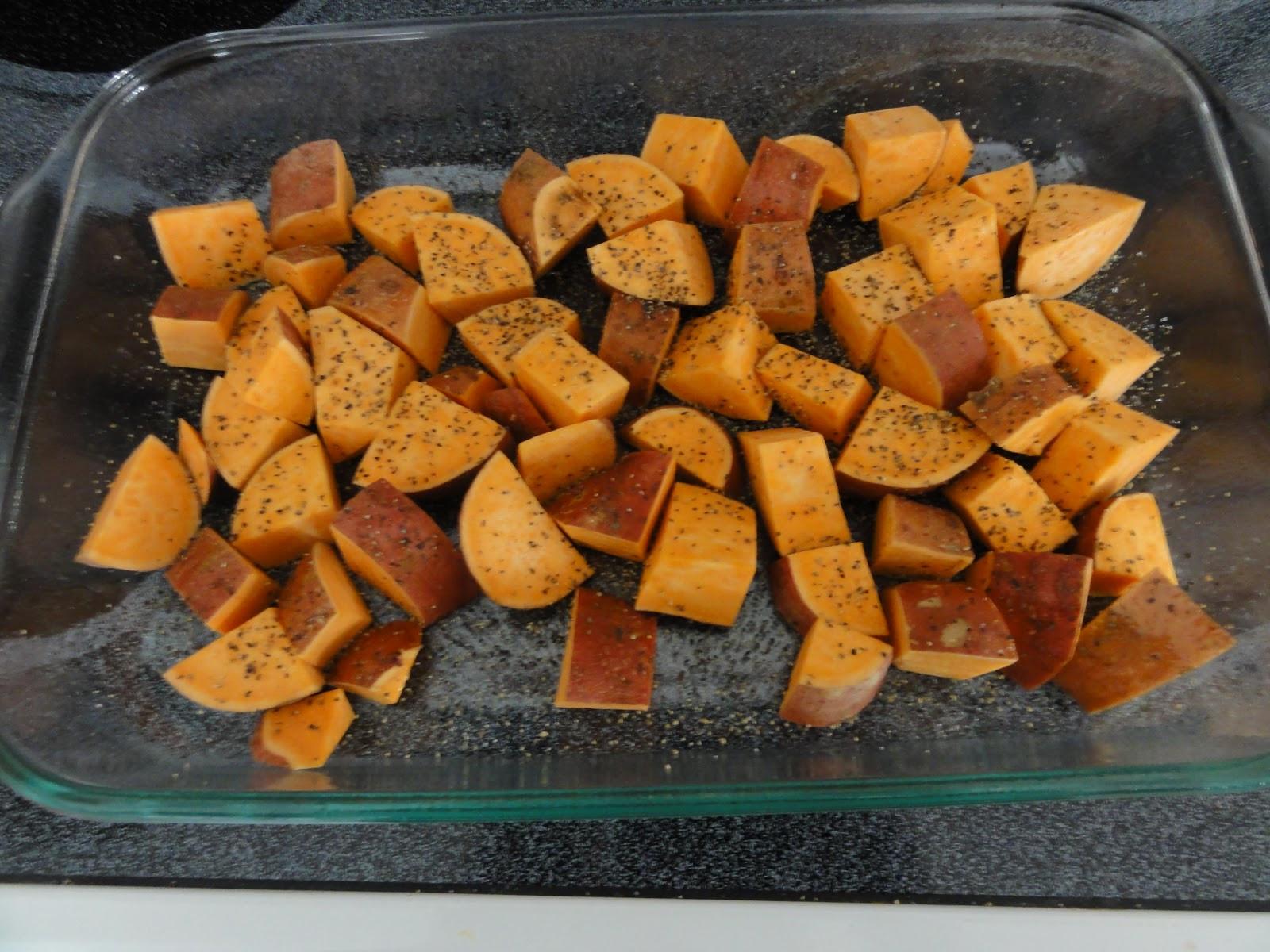 Baked Sweet Potato Cubes  Clean Eat Recipe Sweet Potato Cubes He and She Eat Clean