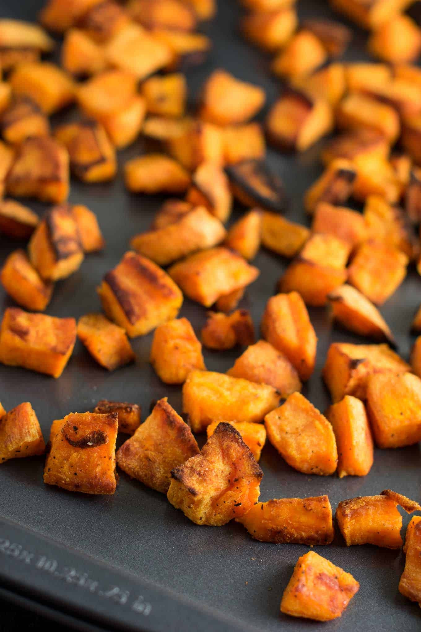 Baked Sweet Potato Cubes  30 minute Roasted Sweet Potatoes Recipe Build Your Bite