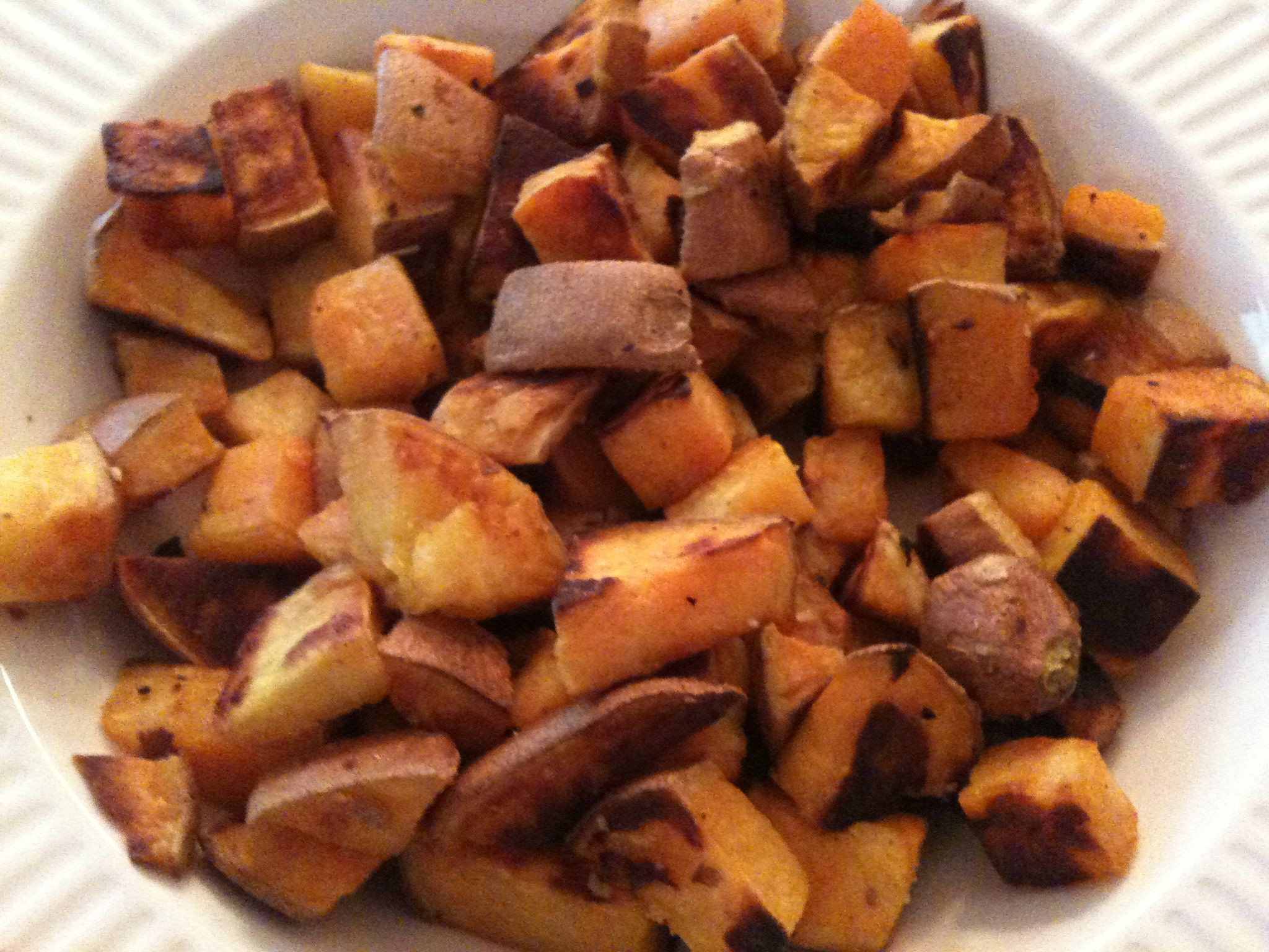 Baked Sweet Potato Cubes  baked sweet potatoes cubed Peter K Fitness